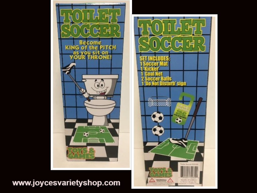 Toilet Hoops Soccer Pass Time Game Toy Gag Gift Ages 3+