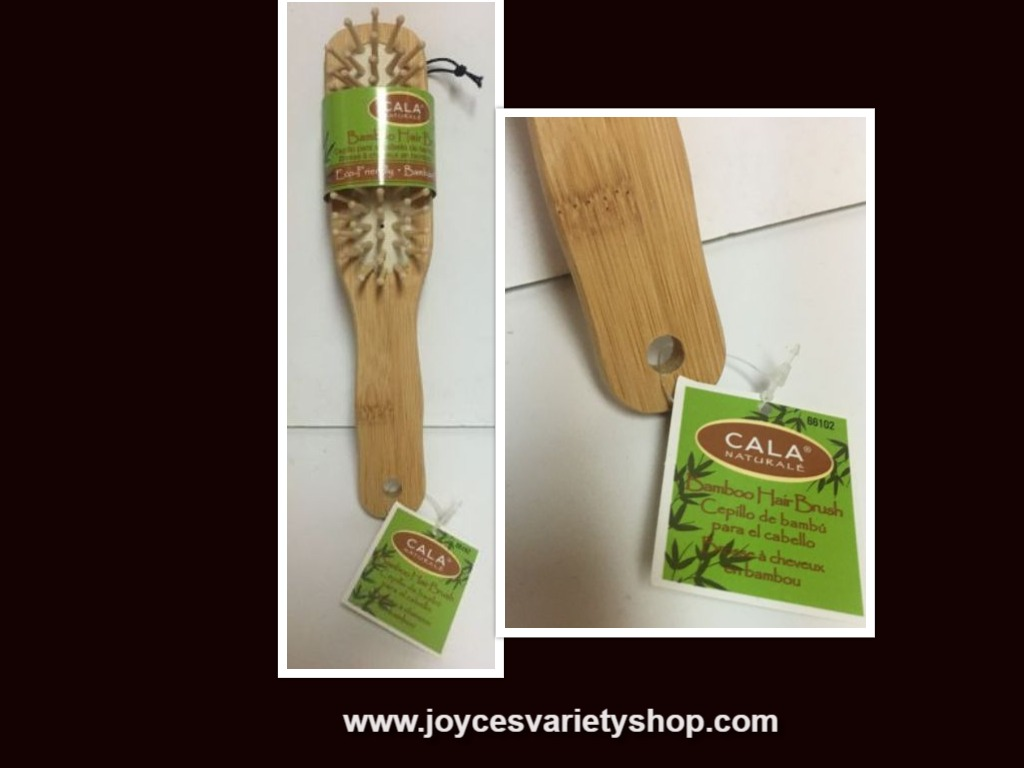 Cala Natural Bamboo Hair Brush NWT Eco Friendly Small 8""