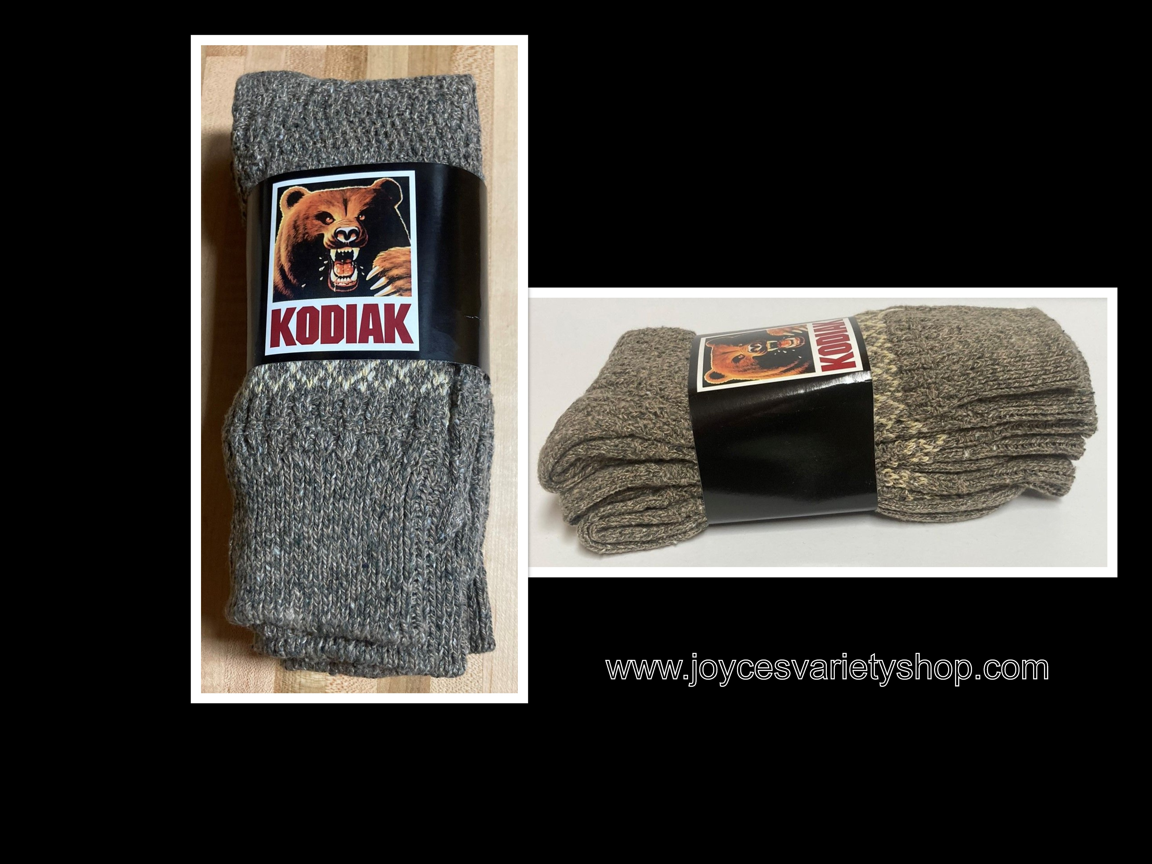 Kodiak Quality Work Socks Sz 9-11 Gray 3 Pack