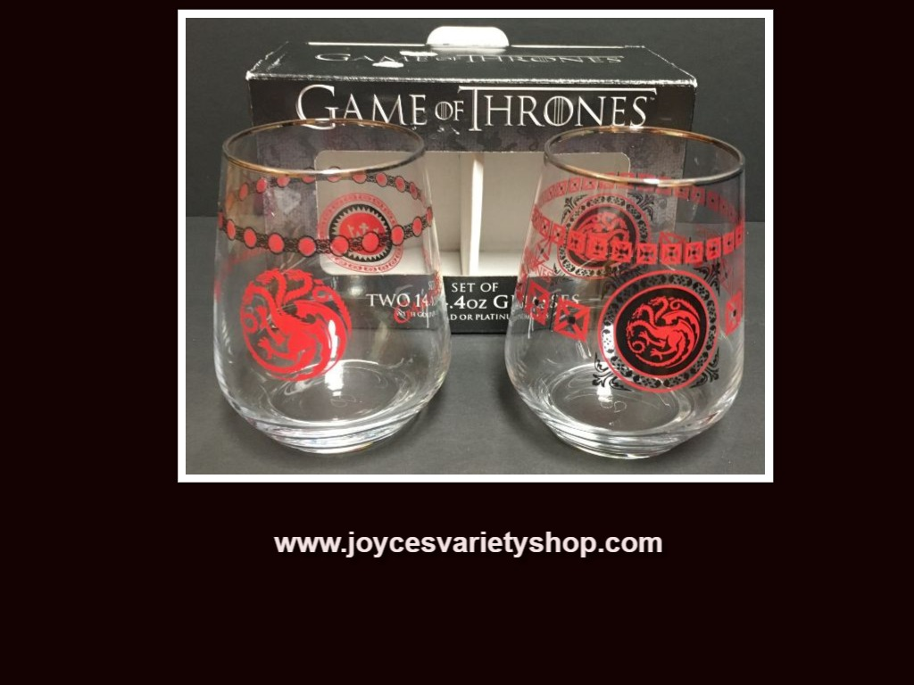 Game of Thrones Two 14.4 Oz Set Glasses