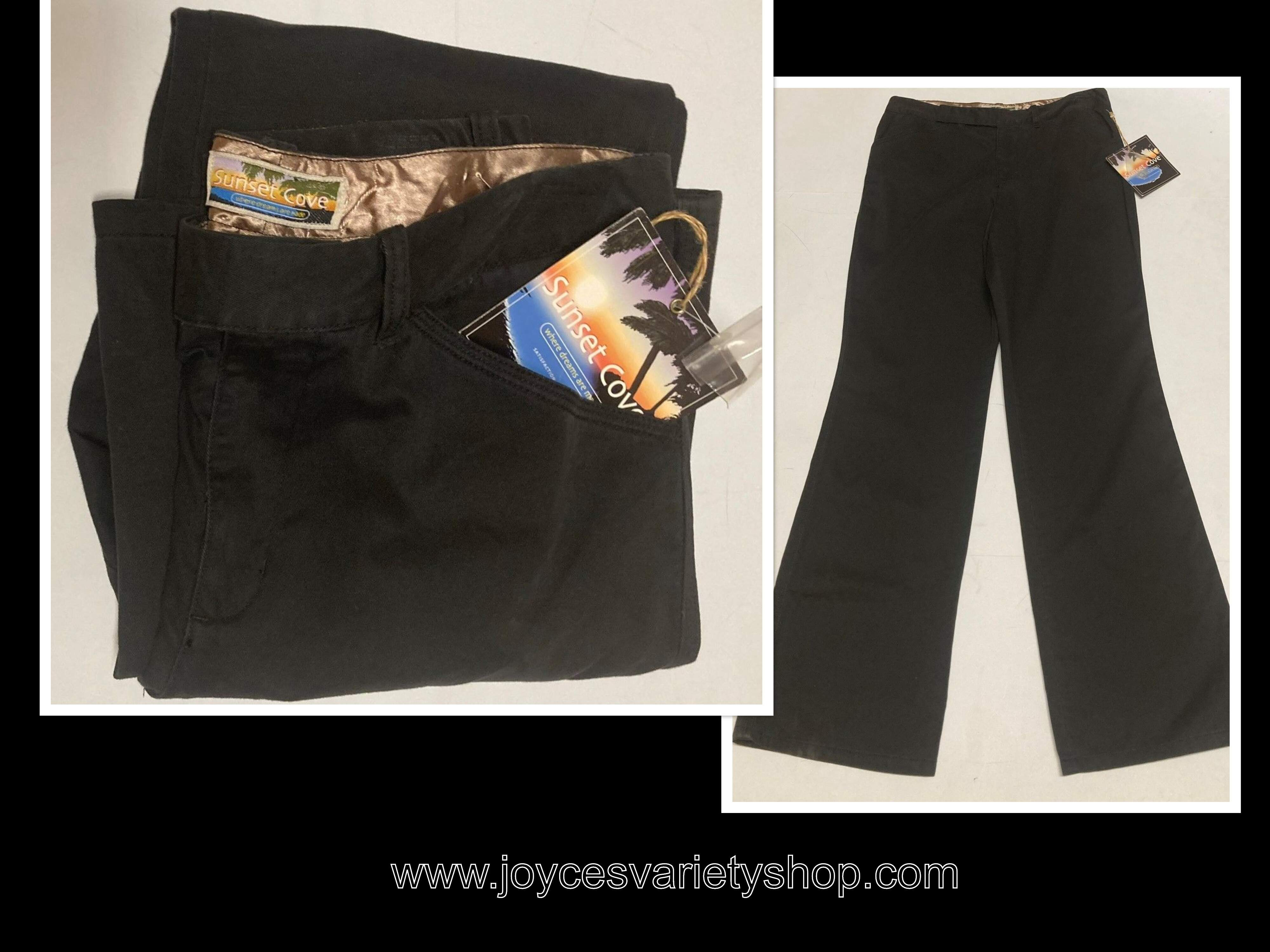 "Women's Low Rise Hipster Jeans Pants SZ 10 Waist 32"" Sunset Cove Black"