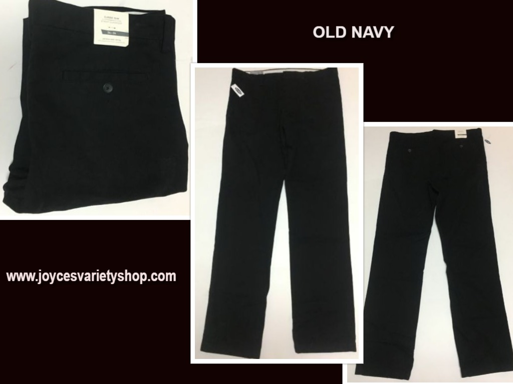 Men's Old Navy Black Classic Slim Pants 34 x 34