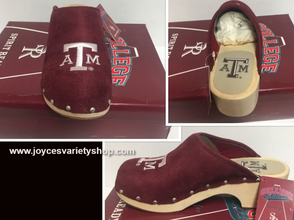 Texas A&M University Women's Team Shoes Mules Clogs Various Sizes