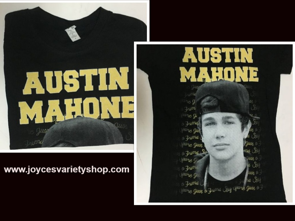 Austin Mahone Women's T-Shirt Photo Lyrics Junior Sz Medium