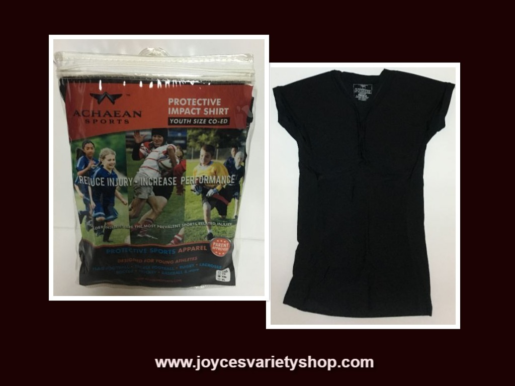 Achaean Sports Protective Impact Shirt Youth Sizes Boys & Girls Black