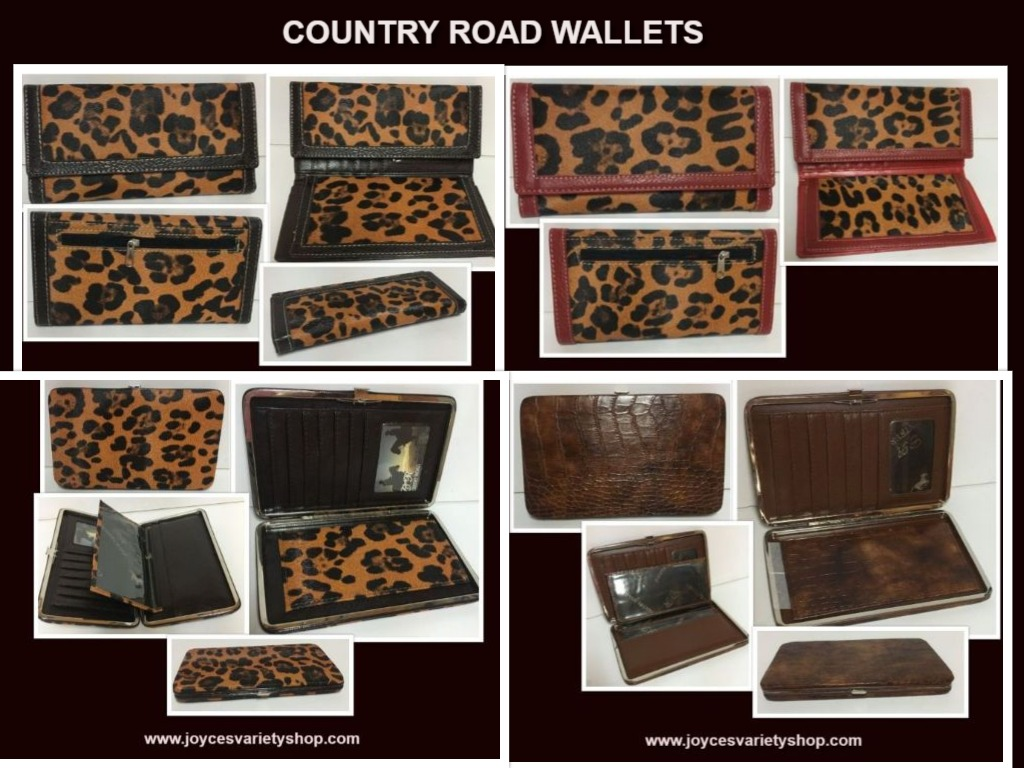 Country Road Faux Leather Animal Print Wallets Cardholder Organizer