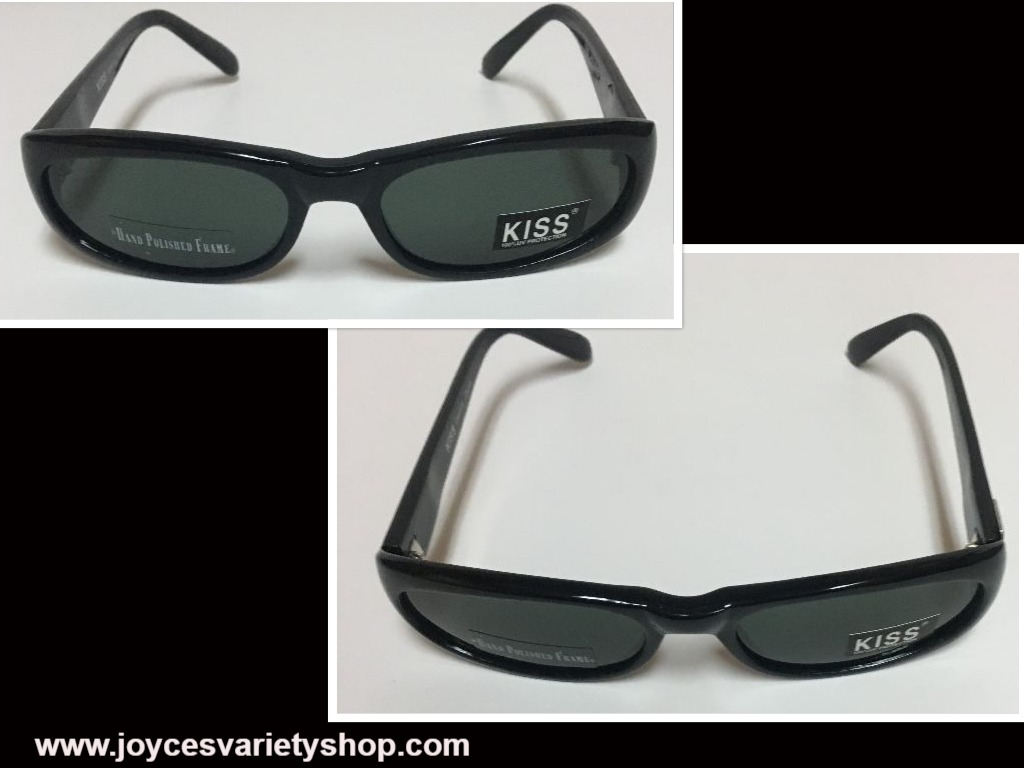 KISS Italy Designed Sunglasses 100% UV Protection Black Green Lens