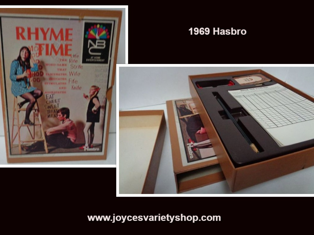 Vintage 1969 Game Rhyme Time NBC Home Entertainment Hasbro