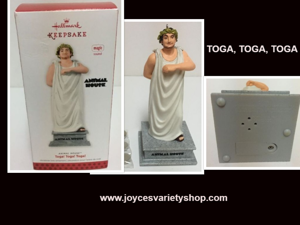 Hallmark 2013 John Belushi Animal House Toga Sound Ornament