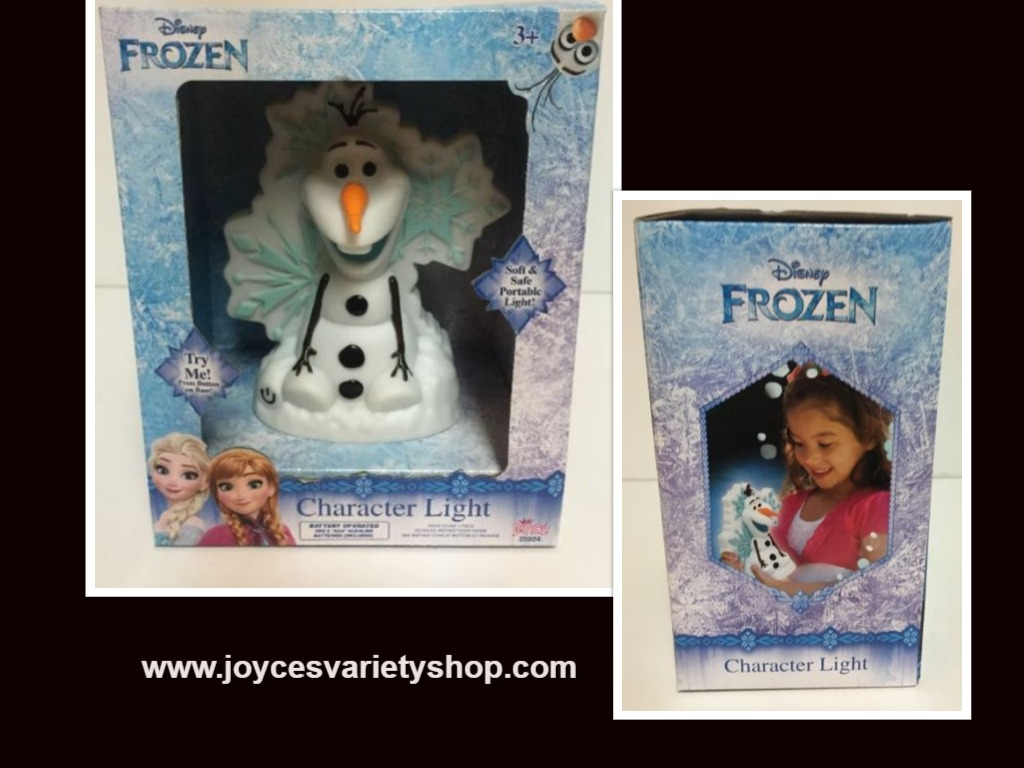 Frozen Snowman Olaf Movie Character Kid's Portable Light 3 LED Settings Battery