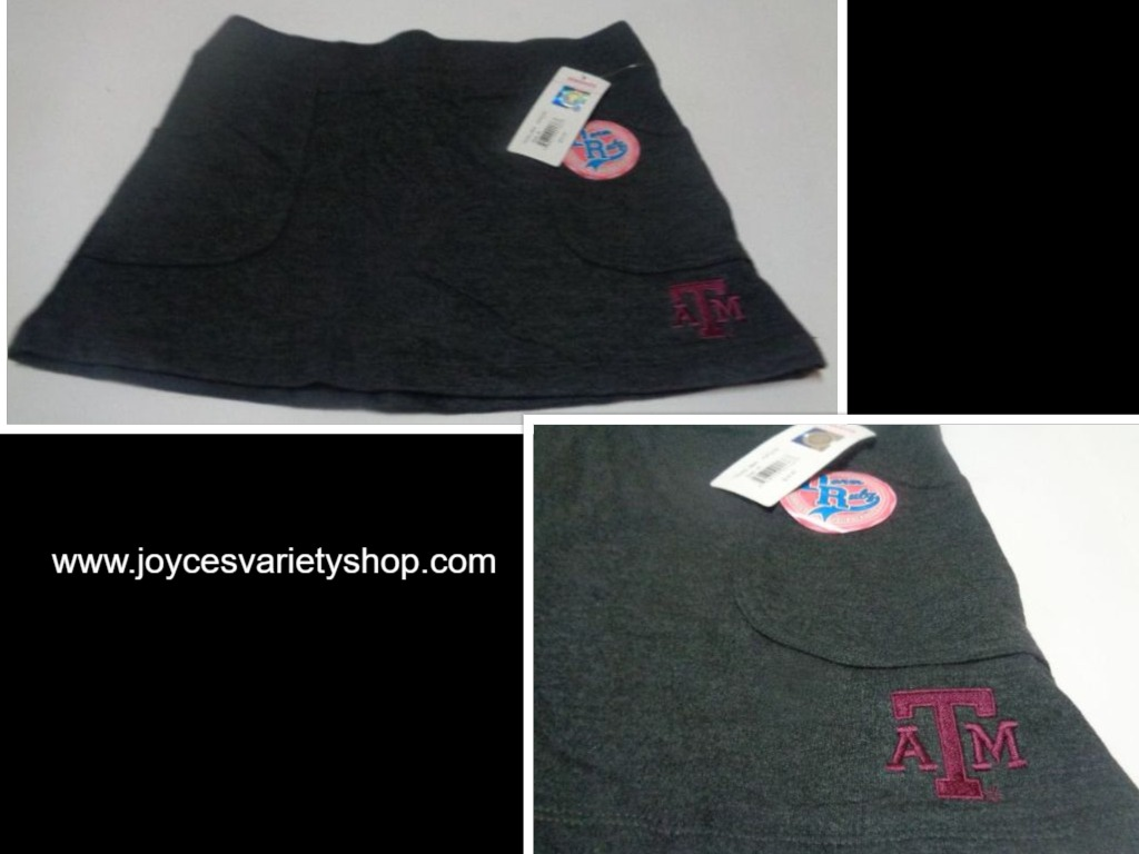 Texas A&M Team Sports Mini Skirt NWT KA Knights Size M