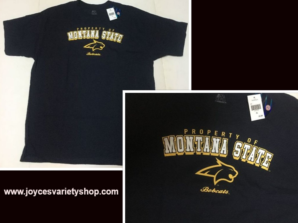 Montana Bobcats T-Shirt SZ XL Collegiate Licensed J. America Sports