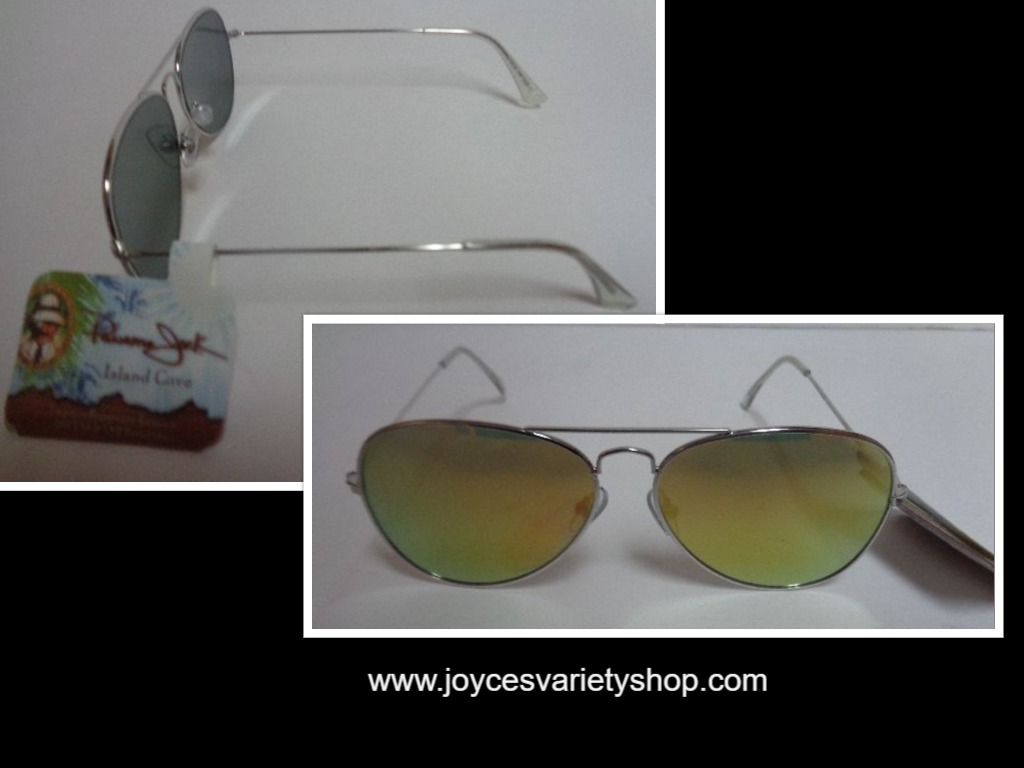 Panama Jack Silver Metal Sunglasses NWT 100% UVA UVB Protection