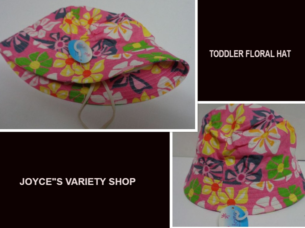 Girl's Pink Flower 100% Cotton Spring Hat