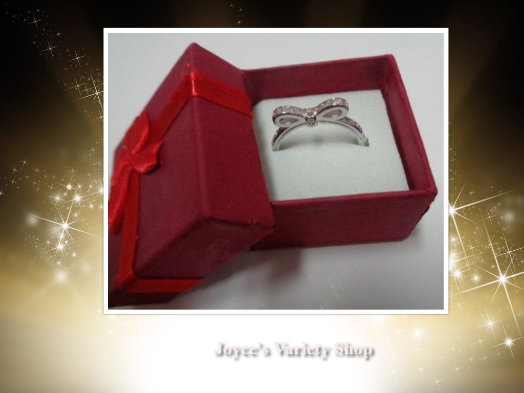 100% Sterling Silver 925 Sparkling Bow Ring Women's Many Sizes