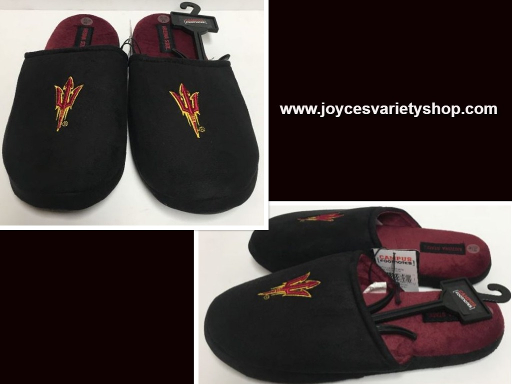 Arizona State University Men's Cushion Loafers Slippers Shoes Many Sizes