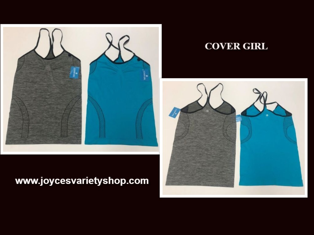 Cover Girl Athletic Work Out Jogging Racer Back Top Various Color Size Juniors