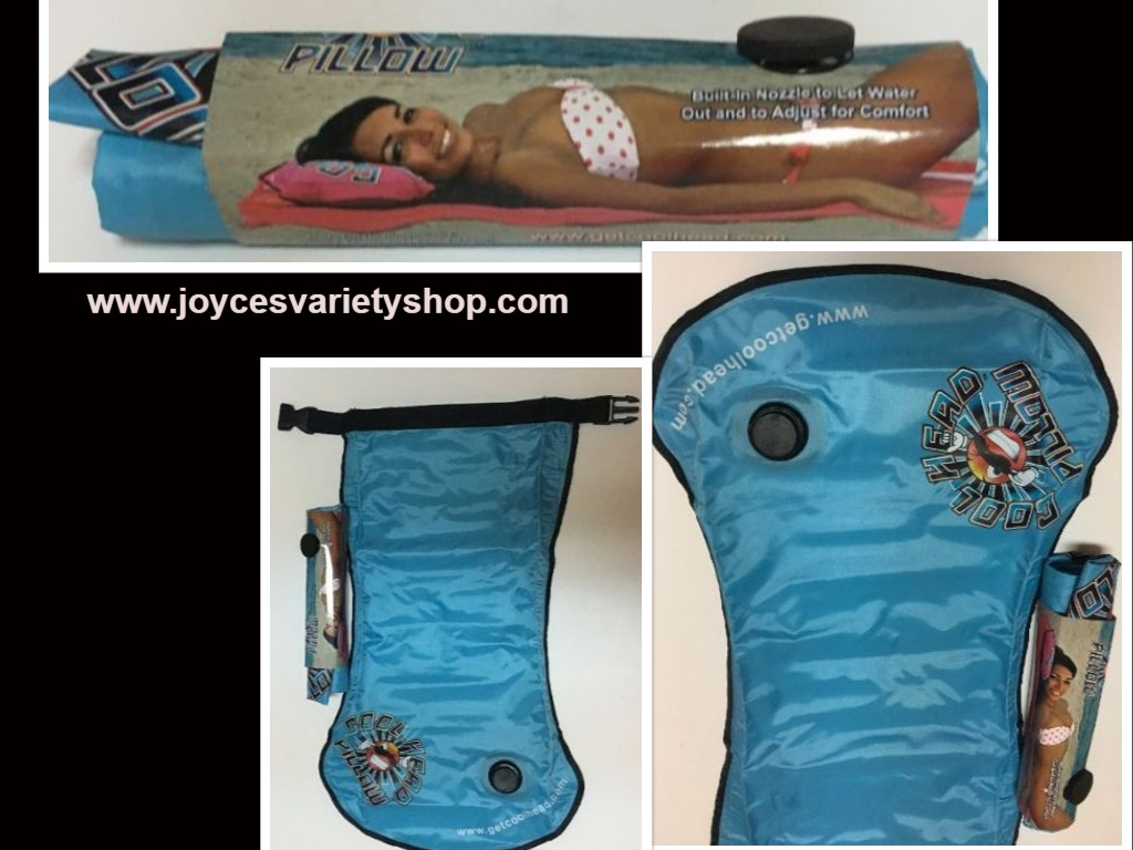 "Cool Heads Water Pillow 22"" x 13"" Beach Swim"