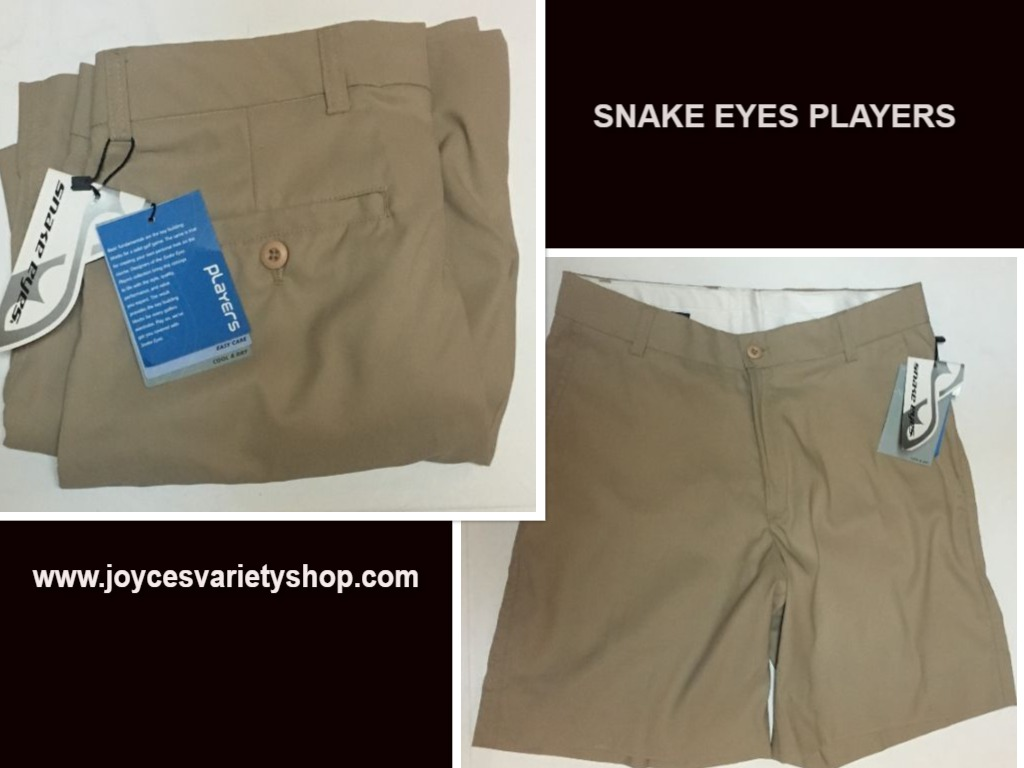 Snake Eyes Players Shorts Beige Sz 32