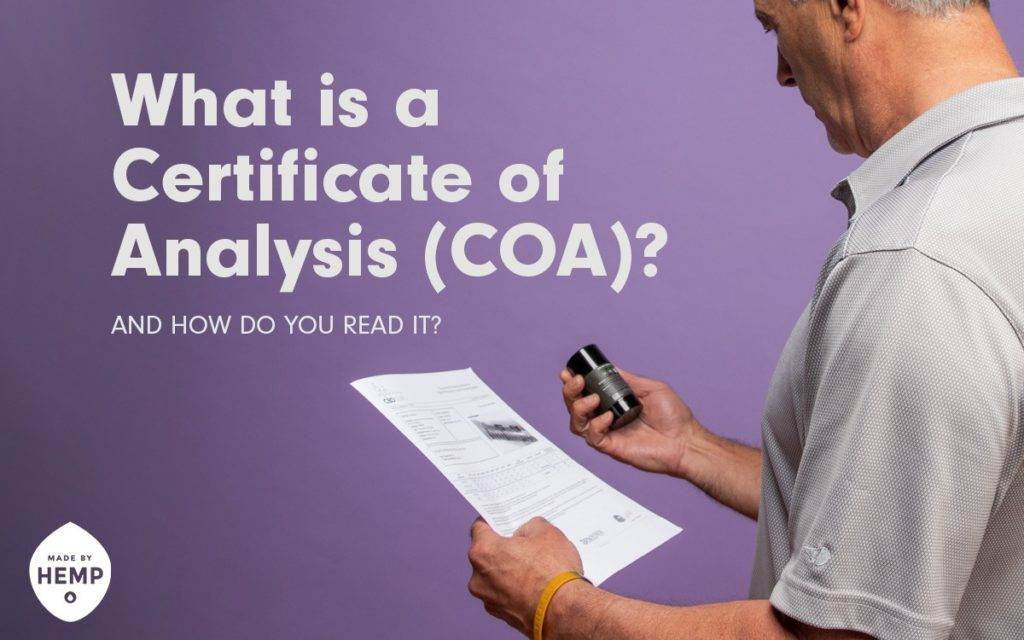 What is a Certificate of Analysis (COA) (and How to Read)