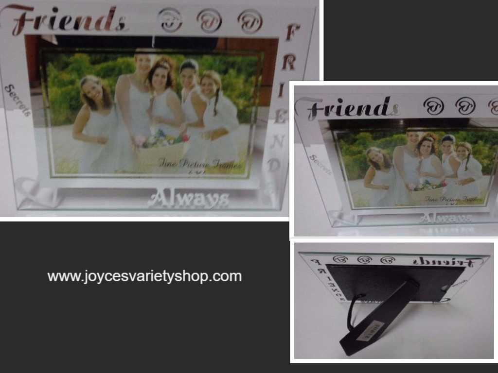 FRIENDS ALWAYS Etched Glass Photo Frame NWT 6 x 4 Photo