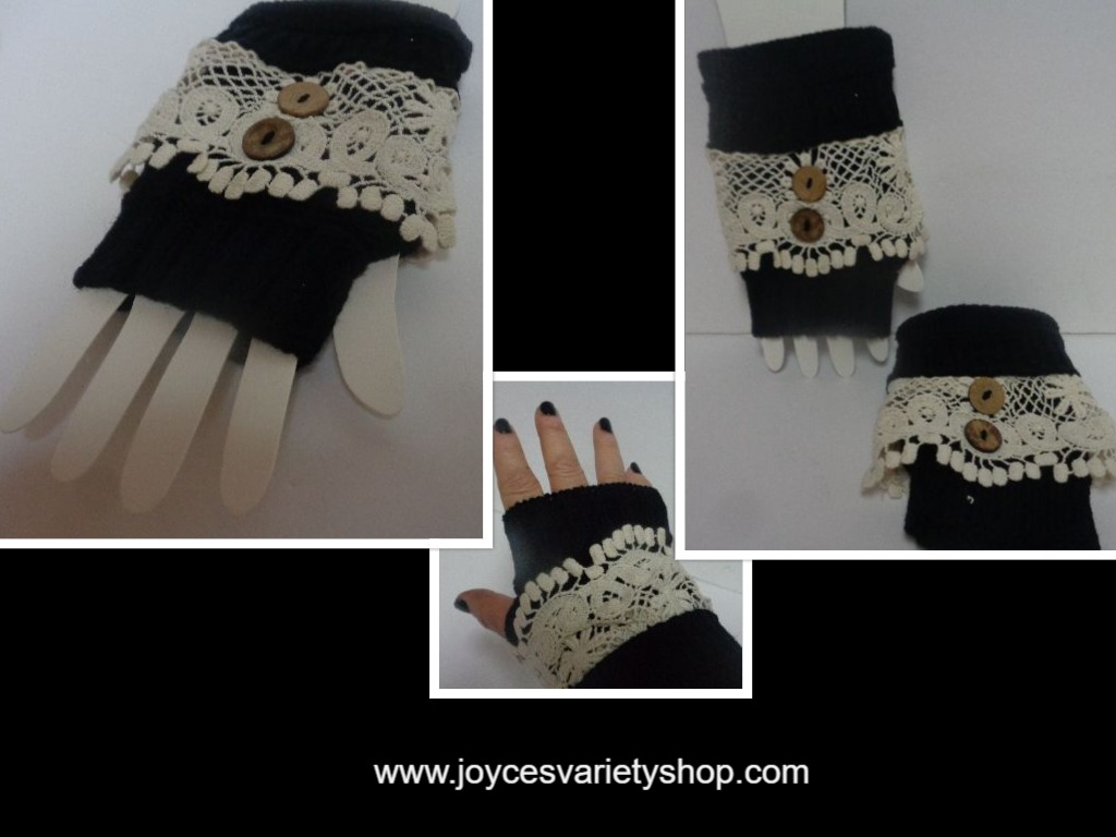 Icon Arm & Hand Warmers NWT Black Victorian One Size