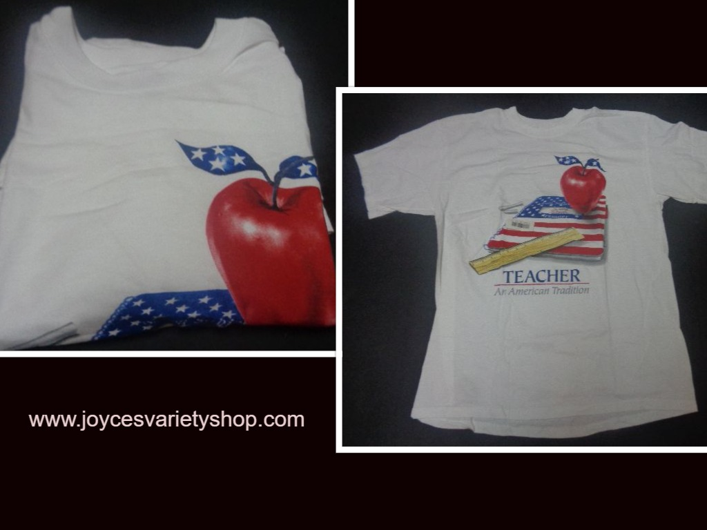 TEACHER AN AMERICAN TRADITION T-Shirt NWOT Sz Large Anvil