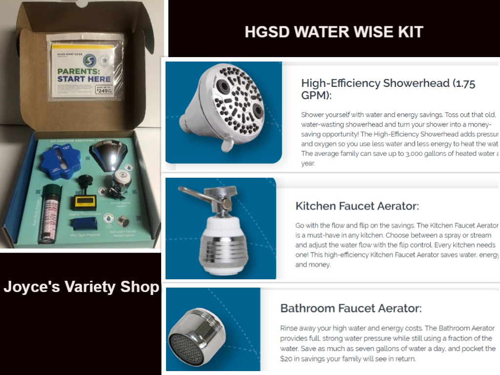 HGSD Water Saving Kit Shower Head Kitchen Bathroom Faucet Aerators & More