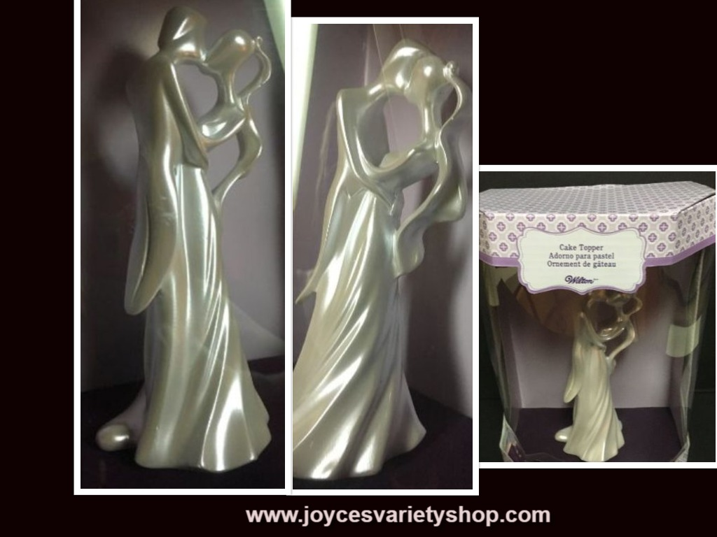 "Wilton Wedding Cake Topper Decoration Centerpiece 6.5"" White Pearl"