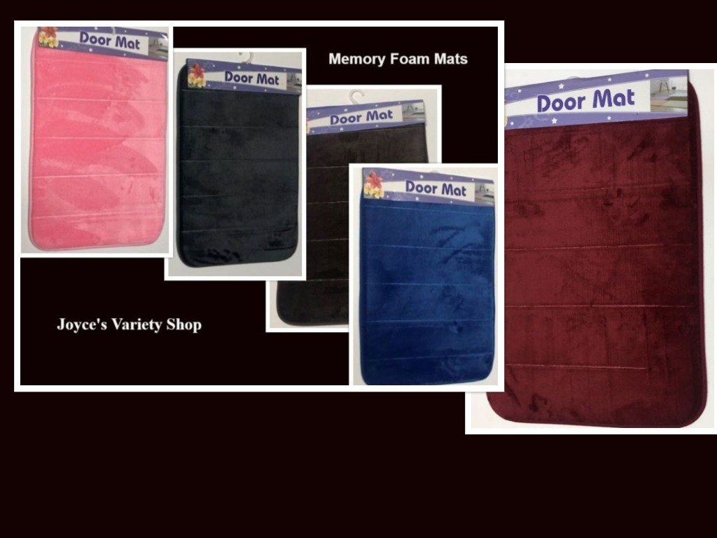 "Plush Memory Foam Floor Mats Variety Colors Non Slip 23"" x 15"" Kitchen Bathroom"