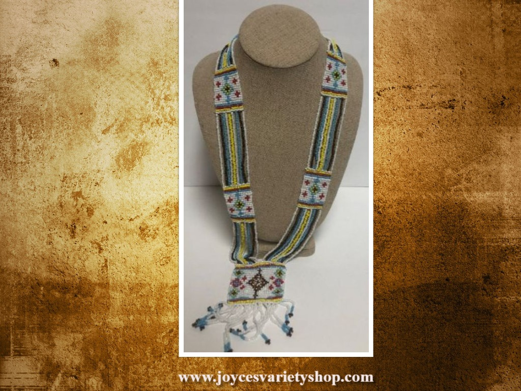 Beaded Necklace Western Native Boho Chic Multi-Color by Stony Jewelry 18""