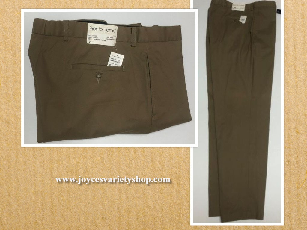 Pronto Uomo Beige Pants Men's Wearhouse Sz 42 x 32