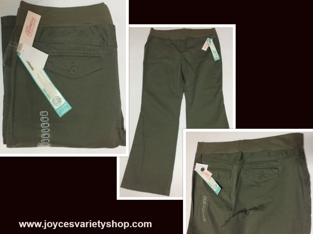 Motherhood Under Belly Pants Jeans Khaki Green XL