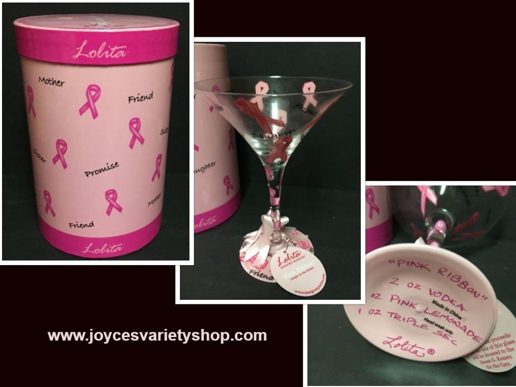 Lolita Love My Martini Glass Cancer Awareness 7 Oz Recipe