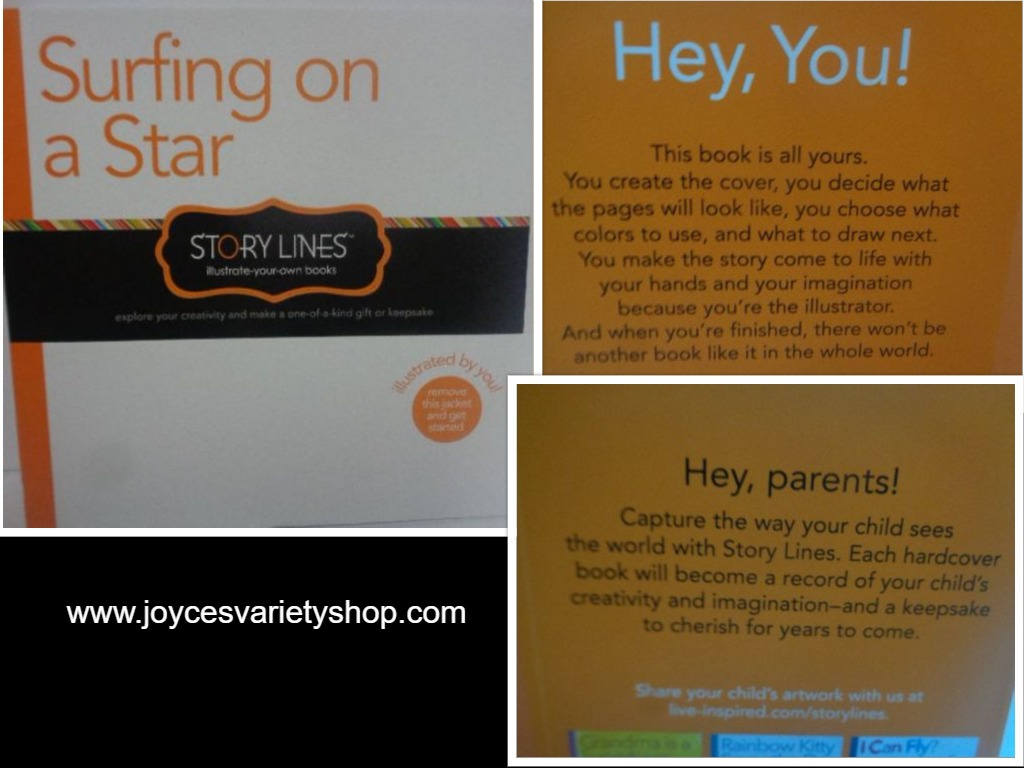SURFING ON A STAR Story Lines Write Your Own Book Brand New Hard Cover