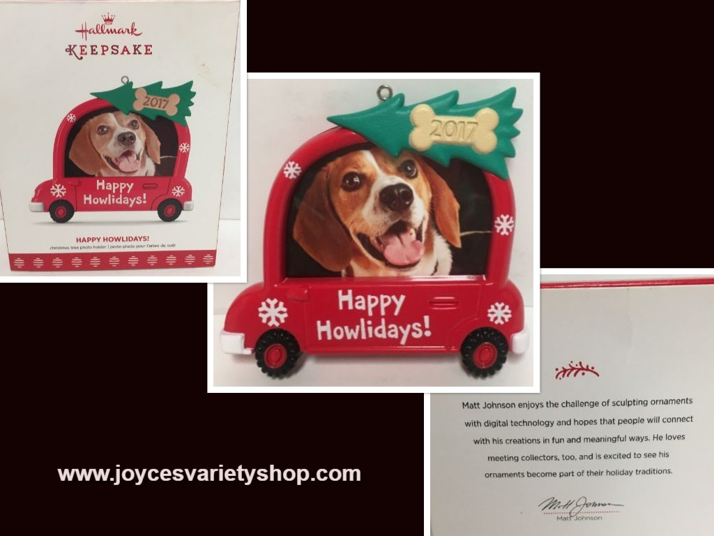 Hallmark Keepsake 2017 Happy Howlidays Pet Holiday Ornament