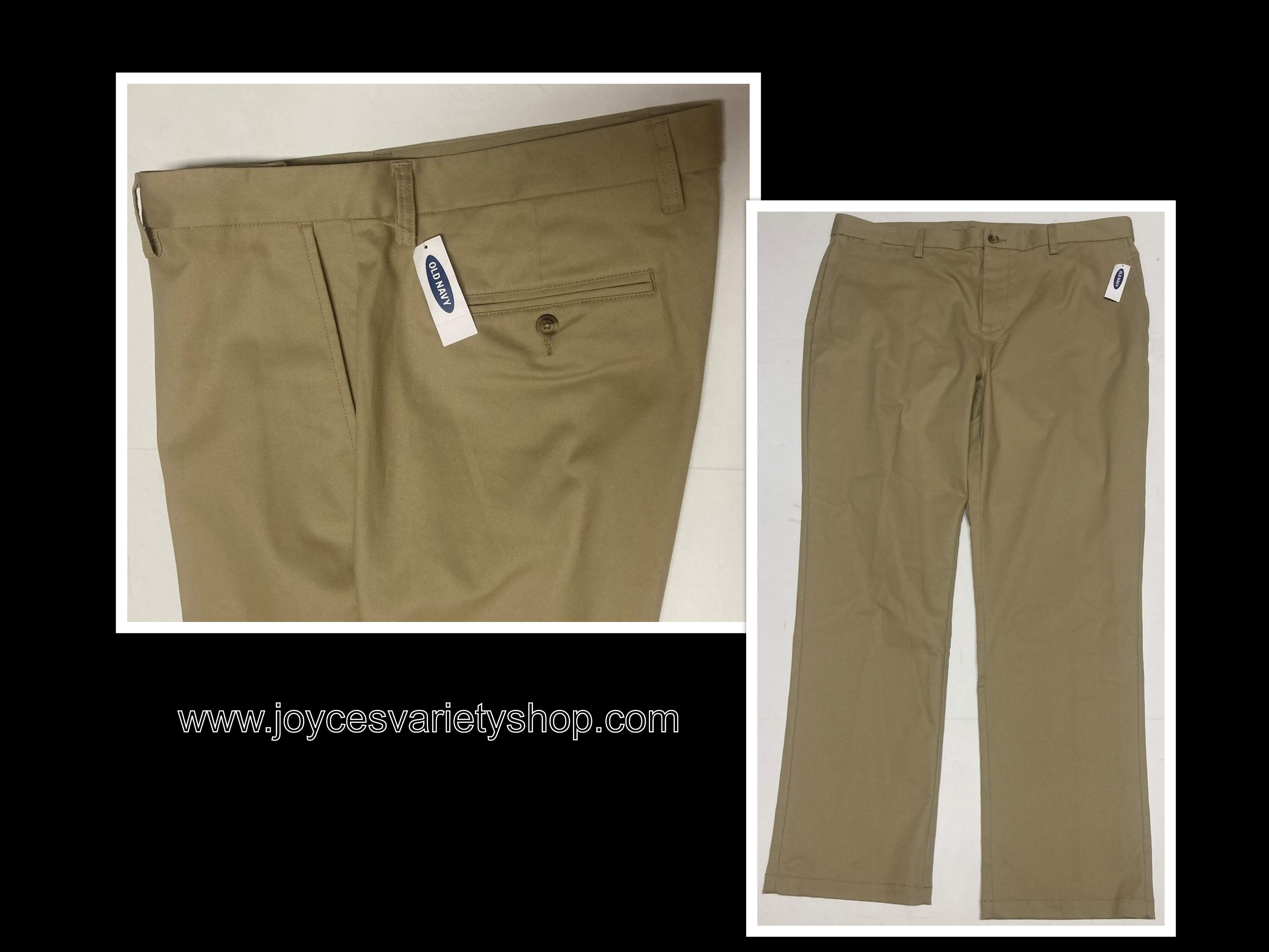 Old Navy Pants Slacks Men's Sz 40 x 30 Beige No Iron Built in Flex