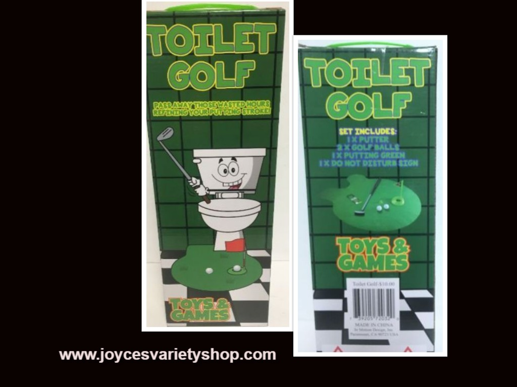 Toilet Golf Pass Time Game Toy Gag Gift Ages 3+