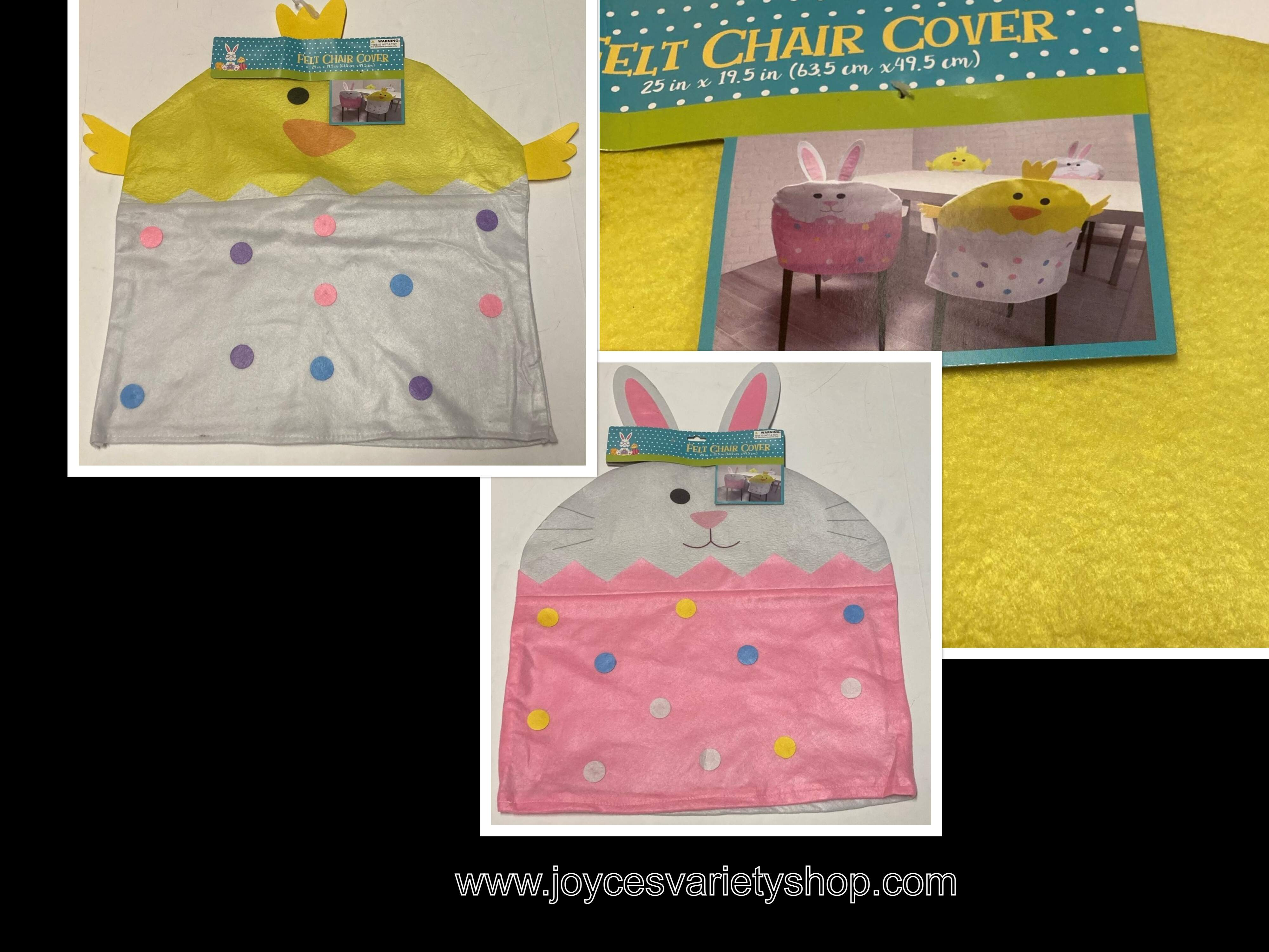 "Felt Chair Cover 25"" x 19.5"" Decor Choice Lil Chic or Bunny Choice"
