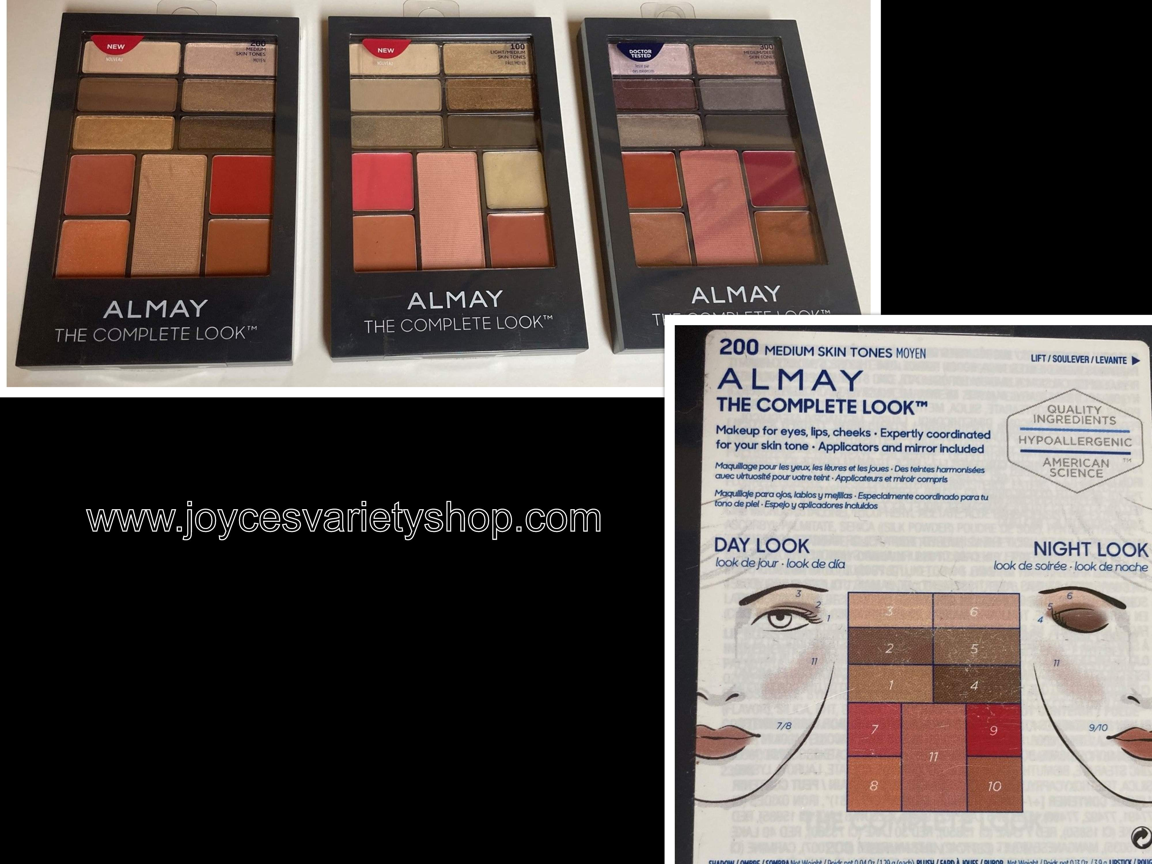 Almay The Complete Look Eyes Lips Cheeks Light Medium Deep Skin Tone Variations