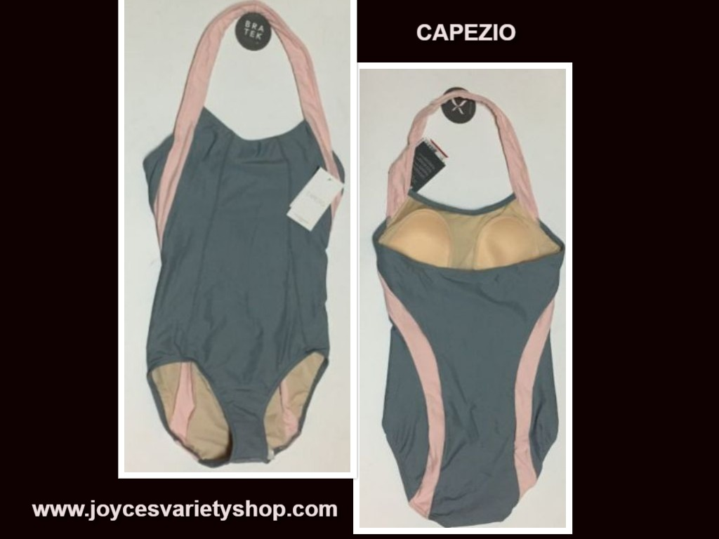 Capezio Bra Tek Dancewear Leotard Various Sizes Gray & Pink