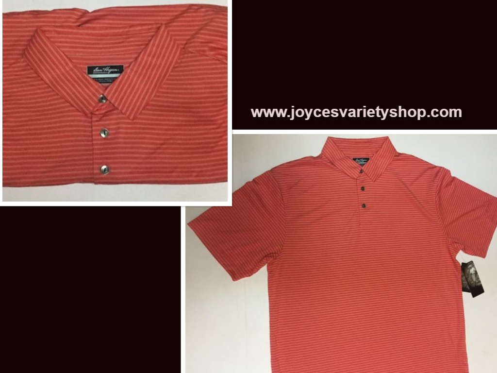 Ben Hogan Golf Performance Polo Shirt Spiced Coral Striped Various Sizes