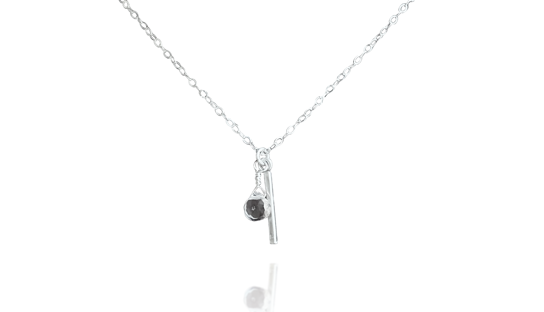 Bar Necklace with Crystal Quartz