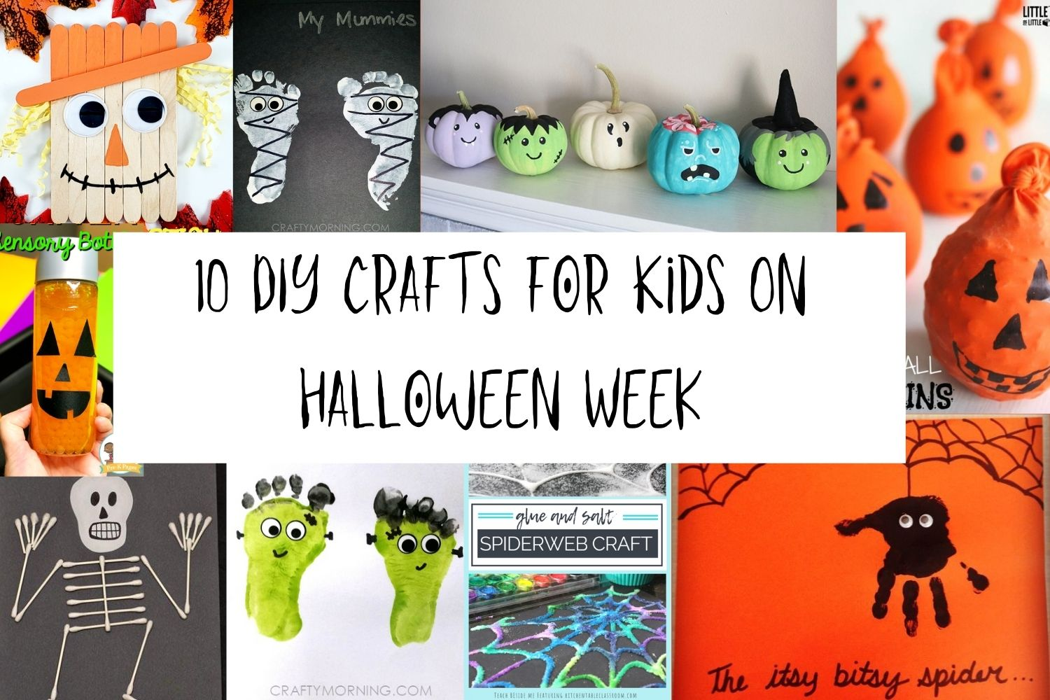 10 DIY Craft's for Kids on Halloween Week