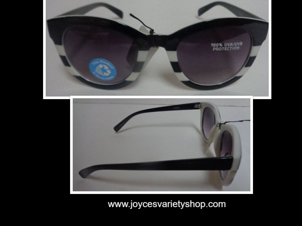 ICU Black & White Sunglasses NWT 100% UVA UVB Protection