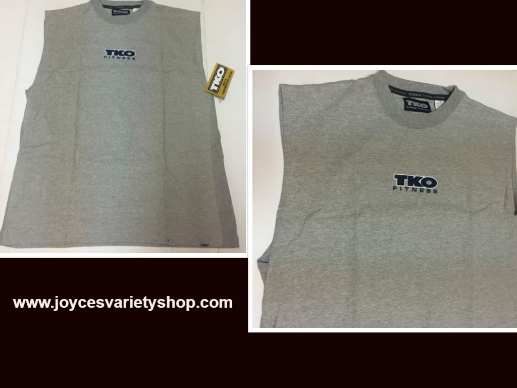 TKO Performance Fitness Shirt Men's XL Gray, Blue or Black Made USA