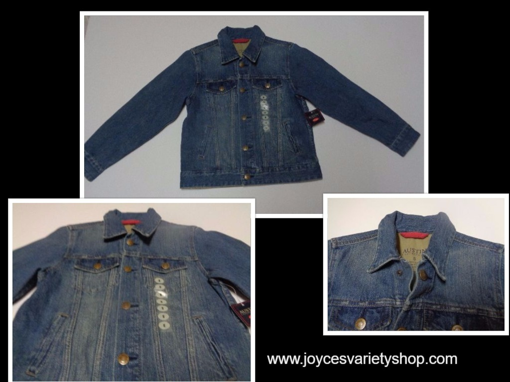 Blue Jean Jacket Austin Clothing Co. Junior Girl's SZ S Medium Wash