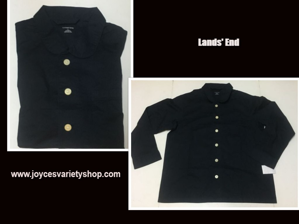 Lands' End Men's Navy Blue Shirt Long Sleeve Sz XL