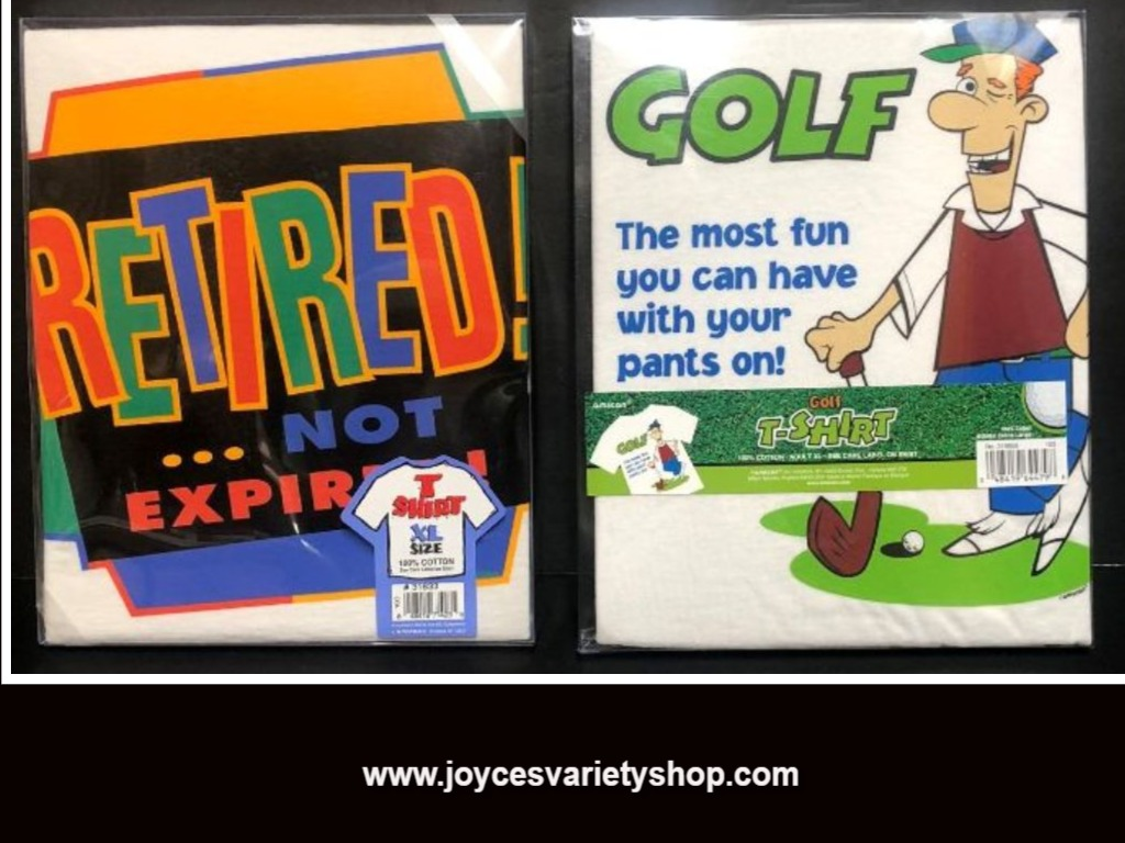 Adult Novelty T-Shirt Sz XL Golf Lovers or Retired Humor 100% Cotton