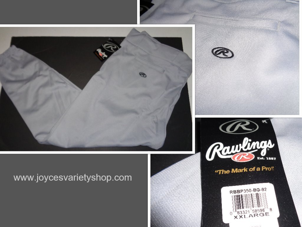 RAWLINGS Adult Baseball Uniform Pants Sz 2XL Gray